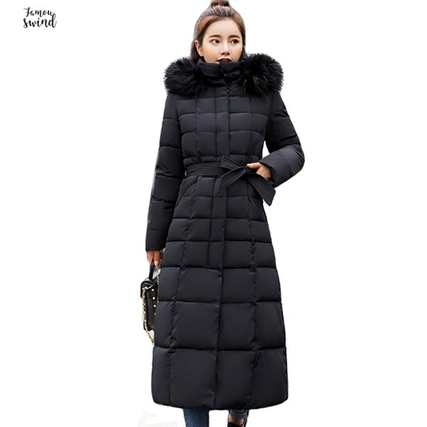 high 2019 quality fur collar women long winter coat female warm outerwear wadded jacket womens parka conventional casaco feminino inverno