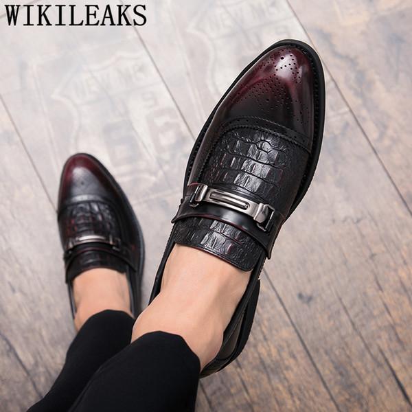 Свадебные туфли мужские элегантные парикмахерские мужские туфли кожаные итальянские классические марки Zapatos de Hombre de Vestir формальные