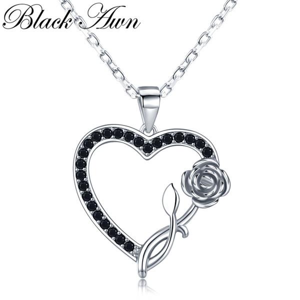 Black Awn Cross-border neue Accessoires s925 Sterling Silber Halskette Zubehör Liebe Sprache Liebe Anhänger