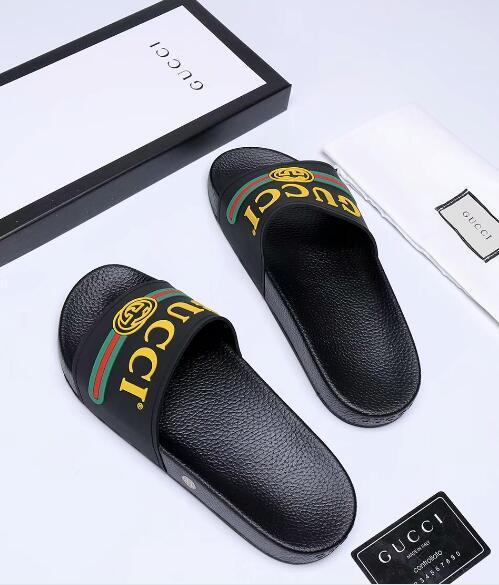 Мужчины Женщины Сандалии Дизайнерская обувь Роскошные горки Летняя мода Широкие плоские скользкие с толстыми зимними сандалиями Тапочка-флип-флоп с коробкой