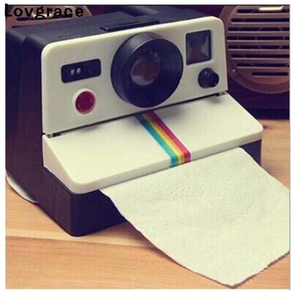 Lovgrace Creative Camera Type Tissue Box Towel Napkin Dispenser Paper Holder Nordic Tissue Box Napkin Holder Paper Home Car Deco