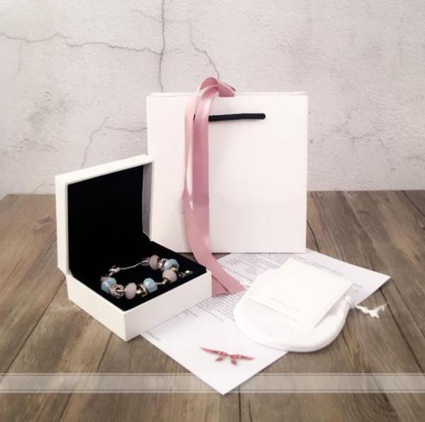 Paquete original de joyas de plata 925 para juegos de aretes con aretes de collar y caja de cuentas de bricolaje