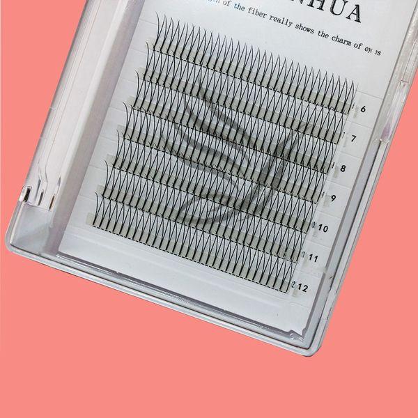 Y-tipi sahte kirpikler çıplak makyaj göz makyajı 2D sahte kirpikler doğal aşılama simülasyon makyaj sahte kirpikler pring kirpik ambalaj