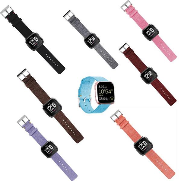 Smart Bracelet Nylon Watch Strap Canvas Loop Watch Band For Fitbit Versa Smart Bracelets Vs Charge 2 Apple Wath Miaanlese