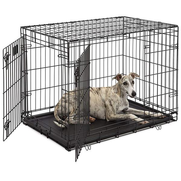 dog crate / icrate single door & double door folding metal dog crates / fully equipped
