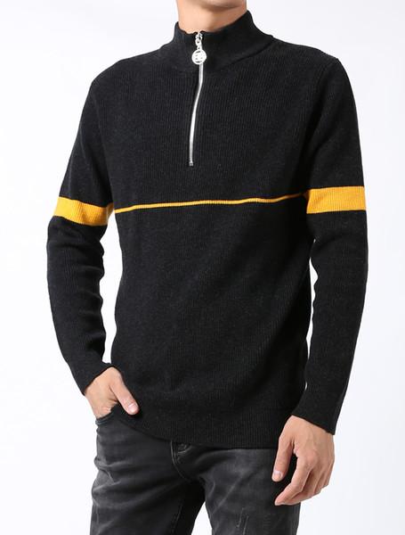 2009 SS dernière couleur assortie de chandail de marque chandail luxe de la mode Pull pour hommes long pull col rond hommes pull à manches