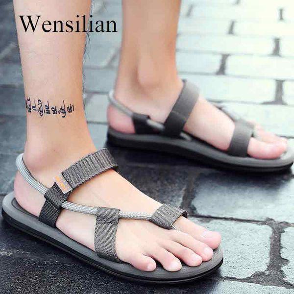Gladiator Sandals For Men Heren Schoenen Summer Shoes Hook&loop Beach Sandals Casual Shoes Male Slides Footware Sandalias Hombre