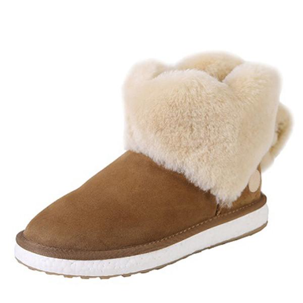 Botas de invierno cálidas al tobillo de felpa