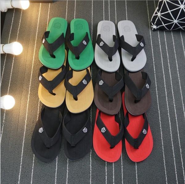 wholesale 2019 new style men's flip-flops loafer casual fashion sandy beach sslippers popular baboosh vocation chinela deslick sole mule