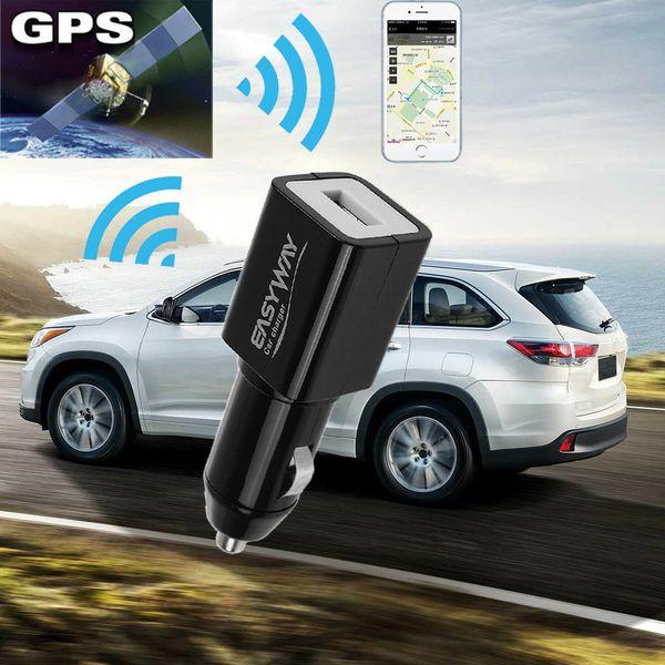 Горячая распродажа мини в режиме реального времени GPS трекер локатор GSM GPRS трек устройства автомобильное зарядное устройство USB новый