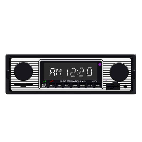 Car Stereo MP3 Player Auto FM Radio Bluetooth 1 Din In-Dash 12V Lossless Music Player USBAUX RCA Remote Control Handfree Mutiplay SWM 5513