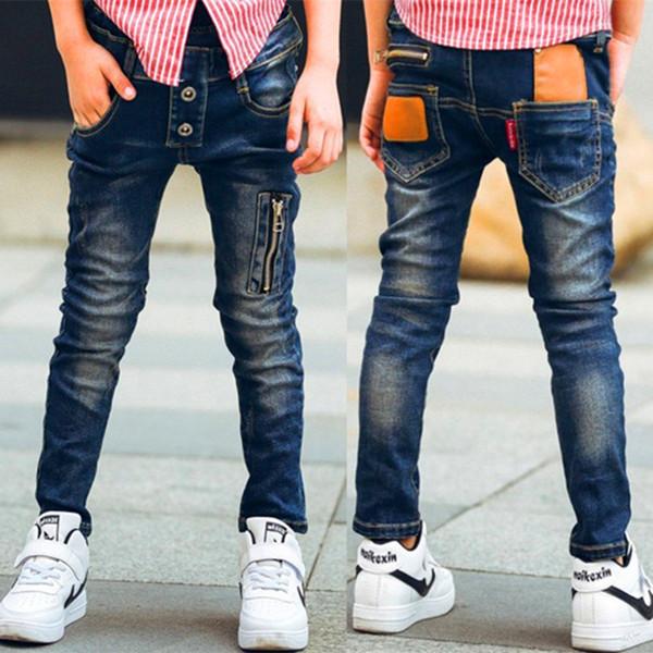 Мужские детские джинсы весенние детские брюки детская одежда модные брюки дикого мальчика для: 3 4 5 6 7 8 9 10 11 12 13 14 лет