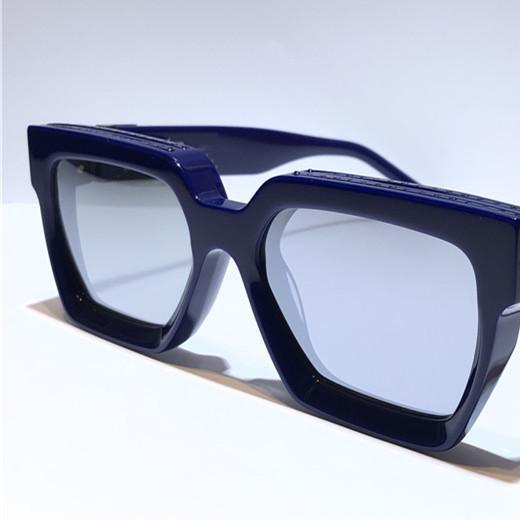 lente do espelho de prata azul