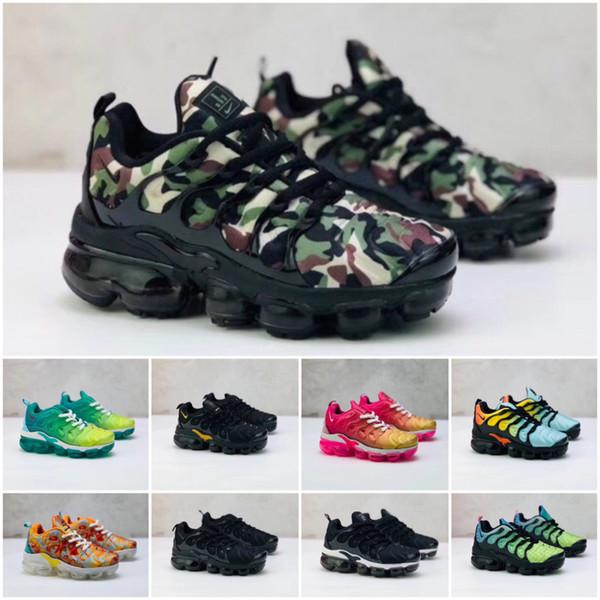 Nike Air TN Plus BoysGirls Повседневной обуви Space TN Классические Дети Спорт кроссовки Детских подарки кроссовок качества: 28-35