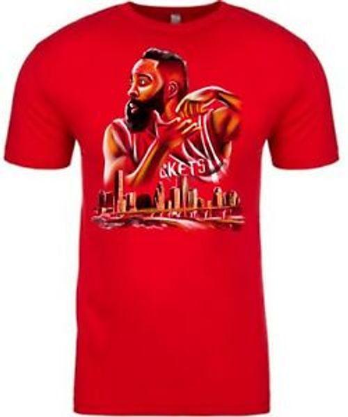 Джеймс Харден перемешивает горшок O-NeO-Neck Красная футболка унисекс