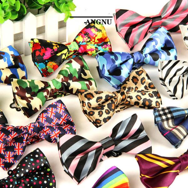 Hommes Ajustable Formelle 100% Coton Vintage Imprimé Animal Bow Tie Papillon Bowtie Tuxedo Arcs Groom Prom Party Accessoires Cadeau