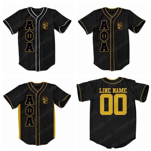 Die Jugend-Alpha Phi Alpha der Frauen der kundenspezifischen Männer stickte griechischen Baseball Jersey IRGENDEINEN NAMEN ODER JEDE NUMMER GRAU XS-5XL Freies Verschiffen