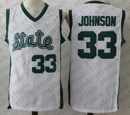 Michigan State 33 Magic Johnson White