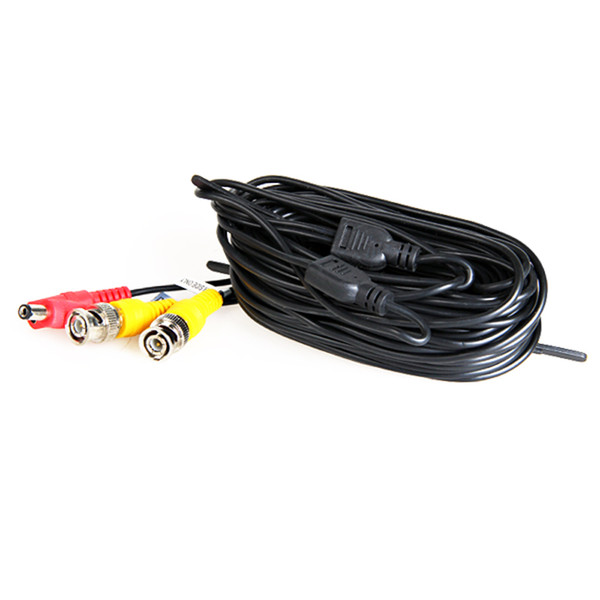 18 Meters (or 60 Feet) BNC Video and Power 12V DC Integrated Cable for Analog CCTV DVR Camera System Kit