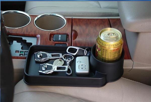 top popular Universal Folding Car Cup Holder Drinks Holders Auto Seat Storage Box For LADA Sedan Largus Kalina Granta Vesta X-Ray XRay 2019