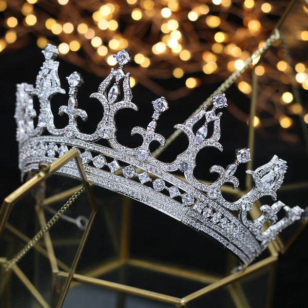 Real Rhine hair crystal zircon and wedding hair head crown Jewelry Wedding Crystal hair A00180