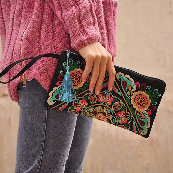 borsa del raccoglitore del progettista borsa messicana dell'annata della borsa della spalla della borsa messicana boho ricamata del regalo Wml99