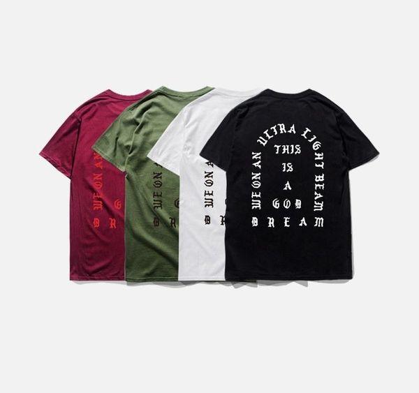 Mens Fashion T-shirt Saison3 je me sens comme pablo Tee manches courtes O col T-shirt Kanye West Lettre Printxxloffow