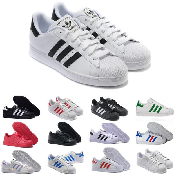 Compre Adidas Superstar Smith Allstar 2016 Originales Superstar Holograma Blanco Iridiscente Junior Superstars 80s Pride Sneakers Super Star Mujer