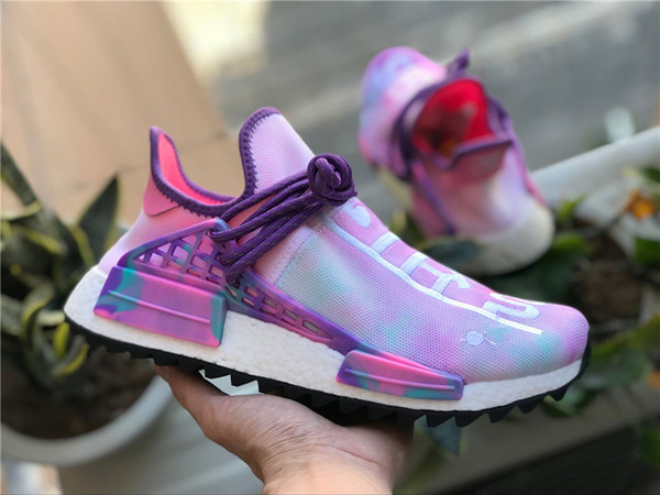 competitive price 3c0b6 10e27 2019 Pharrell Williams X Originals Holi Hu Pink Glow AC7362 Human Race PW  Mens Running Shoes OutDoor Sneakers Authentic Quality With Box 36 46 From  ...