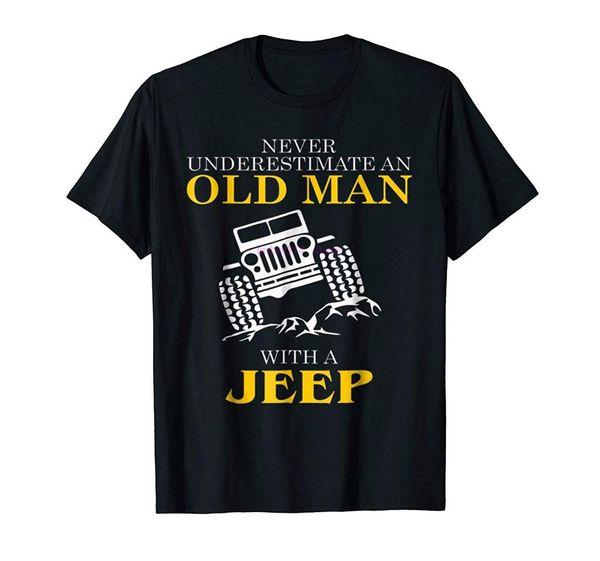 maglietta da uomo di marca Men's Funny Tshirt Old Man With a T