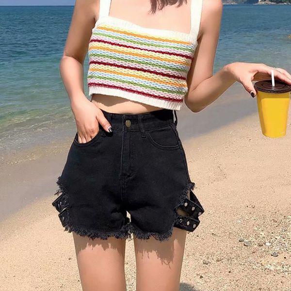 Femmes taille haute Casual Denim Shorts Shorts de sport Femmes Jeans Summer Street Style Pantalon court