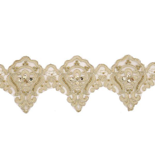 New Fashion White Flower Rose Lace Fita Tecido Bordado Applique Nupcial Costura Craft Vestido De Casamento Para Todos