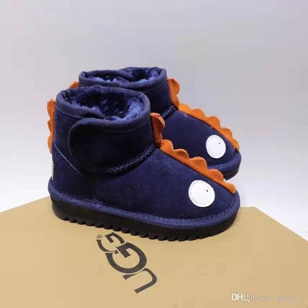 New Fashion Boys and Girls Velcro Dinosaur Snow Boots Three Colors 25---34
