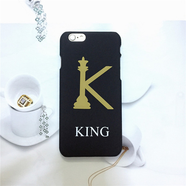 Fashion New Gold Queen King IphoneX Mobile Phone Case Scrub Hard Phone Case 2 Styles for Iphone 5/5S/SE 6/6S Plus 8plus 7/8 7/8 Plus