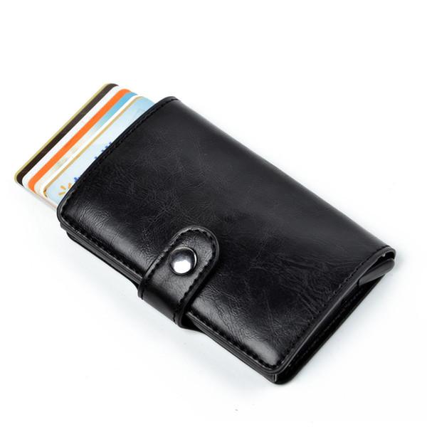 Black Smart Card Holder Wallet Men Slim Wallets Male Money Bag Short Purse Fashion 2018 Small Black Hasp Mini Wallets