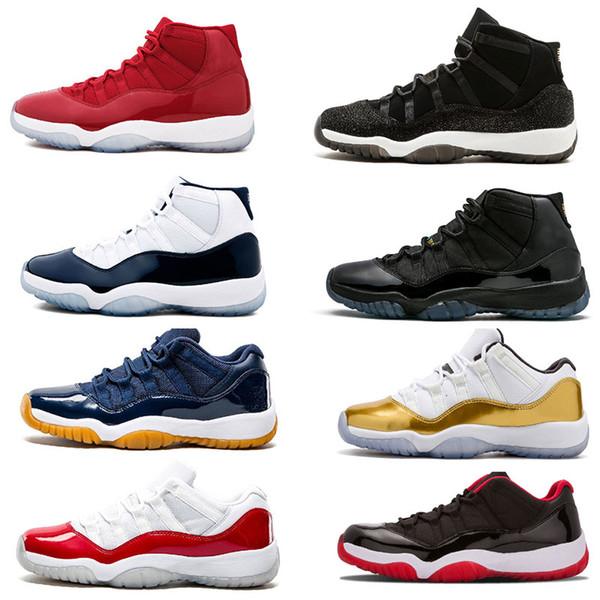 nouveau 11 Concord space jam gagner comme 82 96 Chicago UNC salle de gym rouge chaussures de basket-ball de l'homme de la marine de minuit 11S taille Sneaker 7-13
