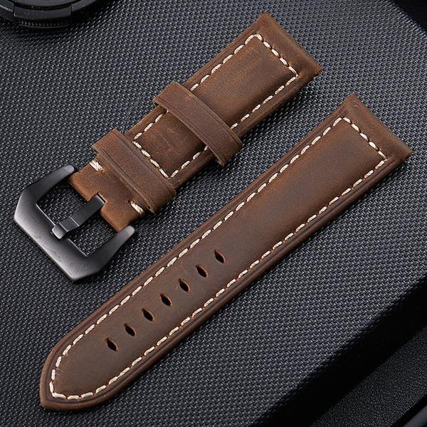 Para PaNer Correa de reloj de cuero genuino suave correa de reloj de lujo 20 mm 22 mm 24 mm 26 mm correa de reloj correa accesorios pulsera buena calidad