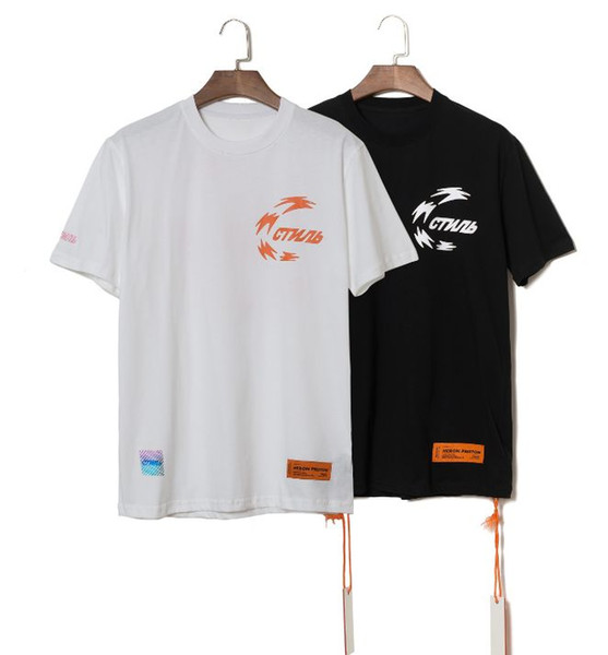 2019 Heron Preston T-shirt Men Women Short-sleeved t shirt Hip hop tshirt Streetwear Brand Summer Cotton Casual Clothing Printed Tees Tops