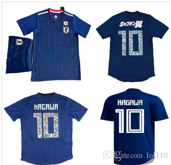 Oyuncu versiyonu Japonya futbol forması ATOM 10 KARIKATÜR SAYISI Japonya 2018 Tsubasa KAGAWA ENDO OKAZAKI NAGATOMO HASEBE KAMAMOTO Futbol takımı Gömlek