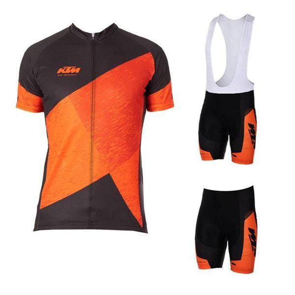 2017 Nova Ktm Bike Cycling Jersey Verão Quick Dry Mtb Ciclismo Roupa curtos de bicicleta Mangas Maillot Ciclismo Sports Wear Clothes bicicleta