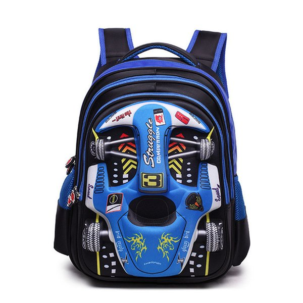 Children Cartoon 3d Car School Bags Boys Girls Primary School Backpack Kids Kindergarten Backpack Schoolbags Mochila Infantil Y19051701