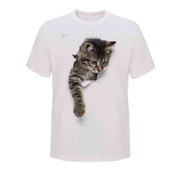CALOFE Men 3D Cute T Shirts Male O-neck Couple Short Sleeve Clothing Casual Animal Streetwear Tops&Tees Plus Size 3XL