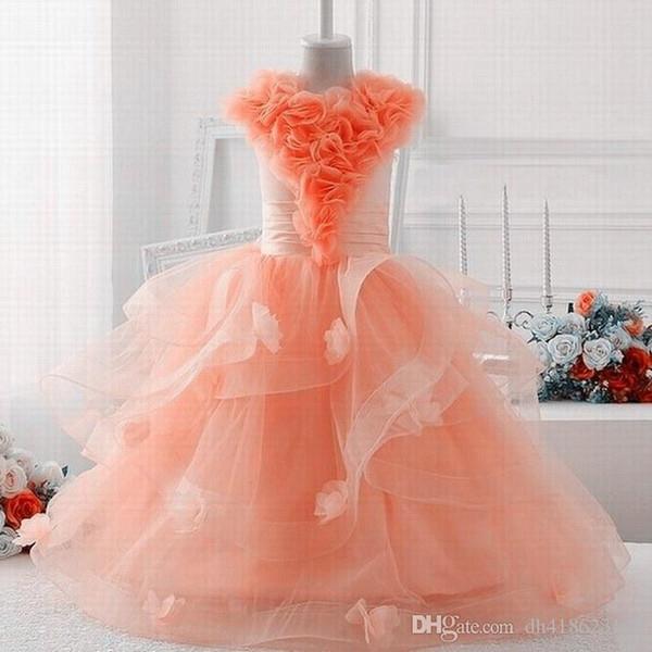 Yeni Büyüleyici Prenses Dans Performansı Pageant Çiçek Kız Elbise Parti Balo Abiye Özel durum Çocuk Elbise YTZ205