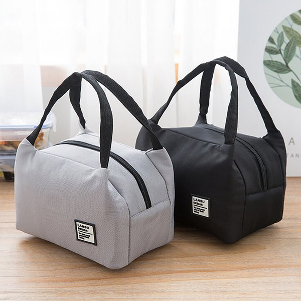 Portable 2018 New Thermal Insulated Box Tote Cooler Bag Bento Pouch Lunch Container School Food Storage Bags C19021301