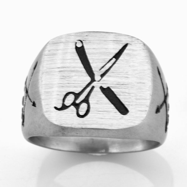 STAINLESS STEEL punk vintage mens or womens JEWELRY Cross Arrow Skull Scissors Ring Matting GIFT FOR BROTHERS SISTERS FSR20W28