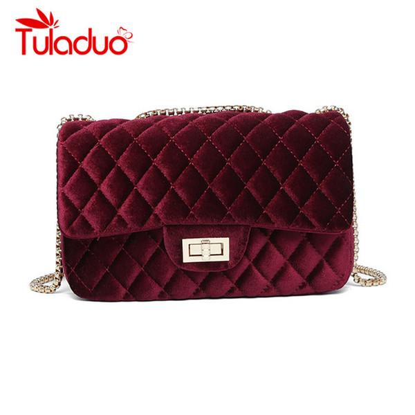 9d50882f8010 Замшевые сумки для женщин роскошные сумки женские сумки дизайнер стеганые  сумки Сумка женская бархатная Вечерняя клатч