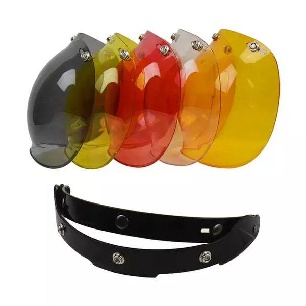 3-snap Open Face Helmet Visor Vintage Retro Motorcycle TORC Biltwel Helmets Bubble Shield Visors Lens Peak
