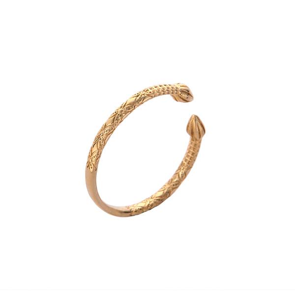 Newest Arrival Ethiopian Gold Color Brass Copper Metal Bangle Women Fashion Jewelry Charm Bracelets Bangles