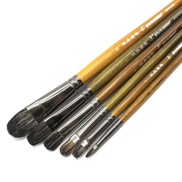 Eval High-grade Ferret Badger Hair Professional Acrylic Oil Paint Brush Set Artist Brushes For Art Chinese Painting Supplies T8190617