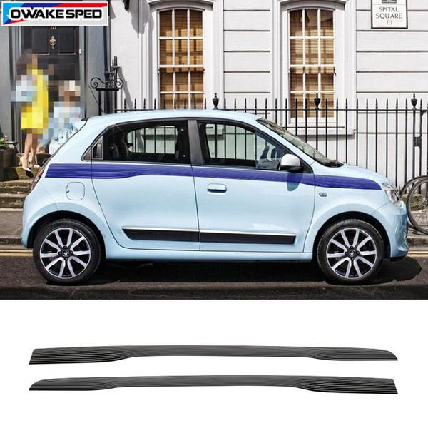 Гонки Спортивные Полосы Для Renault Twingo 2015-17 Стайлинга Автомобилей Двери Талии Линии Наклейки Авто Аксессуары Body Decor Наклейка